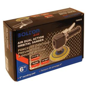 "Bolton Air Toolway Sander Air Dual Action Orbital - 6"" - 10 000 RPM"