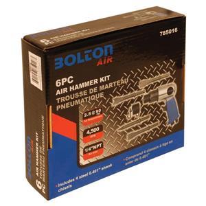 Bolton Air Toolway Bolton Air 6-Piece 2.8 CFM Air Hammer Kit