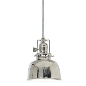 JVI Designs Union Square 1-Light Pendant - 5-in x 68-in - Polished Nickel