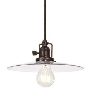 JVI Designs Berkeley 1-Light Pendant - 10-in x 65.5-in - Bronze