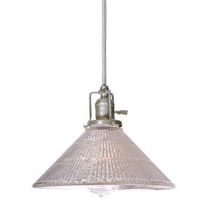 JVI Designs Bailey 1-Light Pendant - 68.5-in - Satin Nickel