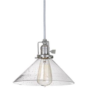 JVI Designs 1-Light Pendant - 10-in x 68.5-in - Satin Nickel