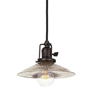 JVI Designs Ashbury 1-Light Pendant - 8-in x 66.5-in - Bronze