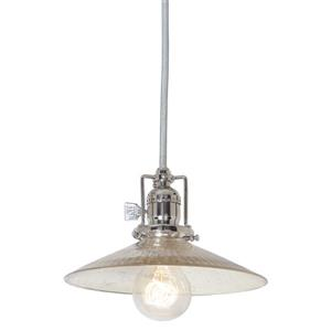 JVI Designs Ashbury 1-Light Pendant - 8-in x 66.5-in - Nickel