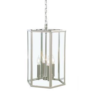 JVI Designs George 4-Light Pendant - 13-in x 56.5-in - Polished Nickel