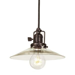 JVI Designs Union Square 1-Light Pendant - 8-in x 66.5-in - Bronze