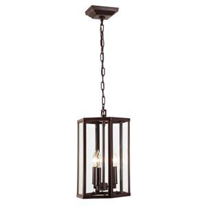 JVI Designs George 3-Light Pendant - 10-in x 53-in - Bronze