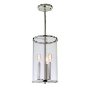 JVI Designs Gramercy 3-Light Pendant - 8-in x 56.5-in - Polished Nickel