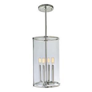 JVI Designs Gramercy 4-Light Pendant - 10-in x 59.5-in - Polished Nickel
