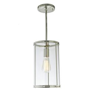 JVI Designs Gramercy 1-Light Pendant - 7-in x 54.5-in - Polished Nickel