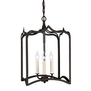 JVI Designs Union Square 3-Light Pendant - 12-in x 56-in - Matte black