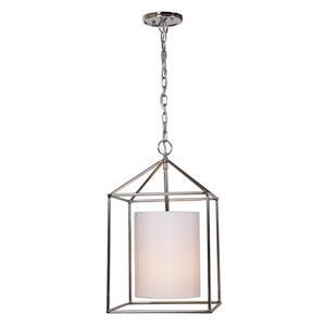 JVI Designs Decatur 1-Light Pendant - 12-in x 57.5-in - Polished Nickel