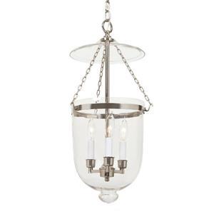 JVI Designs Hundi 3-Light Pendant - 11-in x 59.5-in - Nickel