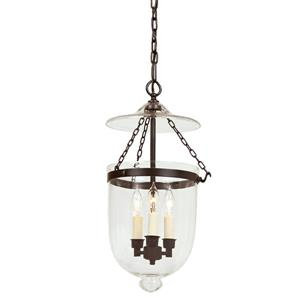 JVI Designs Hundi 3-Light Pendant - 11-in x 59.5-in - Glass - Bronze