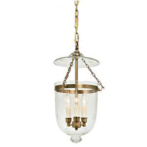 JVI Designs Hundi 3-Light Pendant - 11-in x 59.5-in - Satin Brass