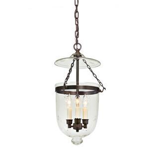 JVI Designs Hundi 3-Light Pendant - 11-in x 59.5-in - Bronze