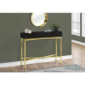 Monarch Accent Table - Console Cappuccino and Gold - 42-in