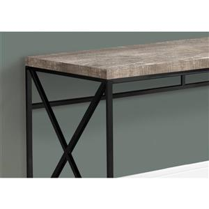 Monarch Computer Desk - Taupe Reclaimed Wood / Black metal - 48-in L