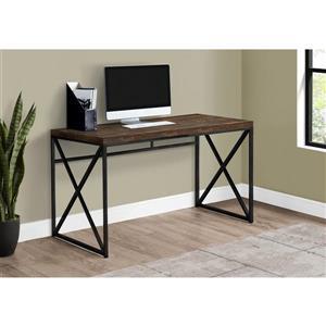 Monarch Computer Desk - Brown Reclaimed Wood / Black metal - 48-in L