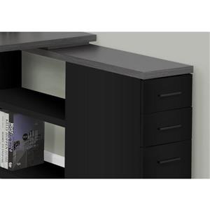 Monarch Computer Desk - Black and Grey - Left/Right Facing