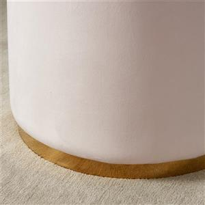 !nspire Ottoman with Gold Base - 18-in - Blush