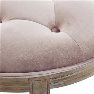 !nspire Half-Moon Bench - 49.25-in x 19-in - Pink Velvet