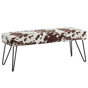 !nspire Faux Cowhide Double Bench - 46-in - Brown