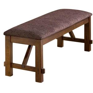 WHI Double Bench - Solid wood/Faux Leather - Brown - 60""