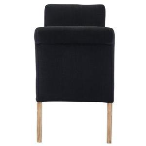 """WHI Storage Bench - Black Fabric - 54""""L x 17.75""""W"""