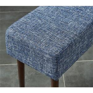 """WHI Mid Century Compact Bench - Blue Fabric- 31.5"""""""