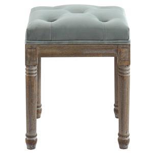 !nspire Button Tufted Velvet Bench - 16-in x 16-in - Grey