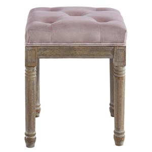 !nspire Button Tufted Velvet Bench - 16-in x 16-in - Purple