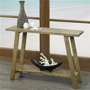 !nspire Solid Wood Console Table - Industrial Design - 42-in - Beige/Grey