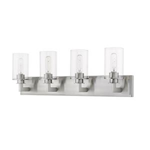 Z-Lite Savannah Modern 4-Light Vanity Light - Nickel