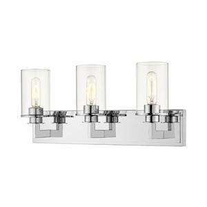 Z-Lite Savannah Modern 3-Light Vanity Light - Chrome