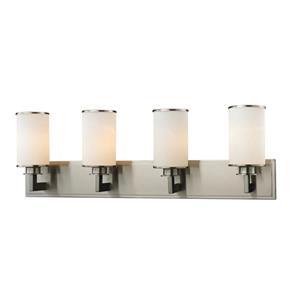 Z-Lite Savannah Modern 4-Light Vanity Light - Nickel
