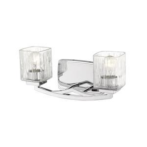 Z-Lite Zaid Contemporary 2-Light Vanity Light - Chrome