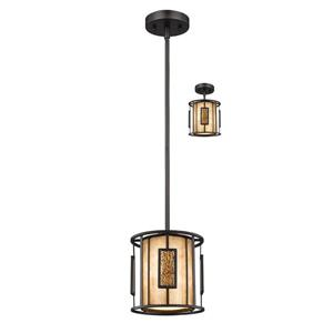 Z-Lite Lankin 1-Light Mini Pendant Light - Bronze