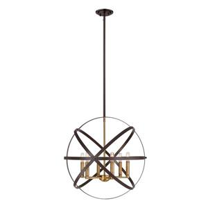 Z-Lite Cavallo 6-Light Pendant Light - Multicoloured