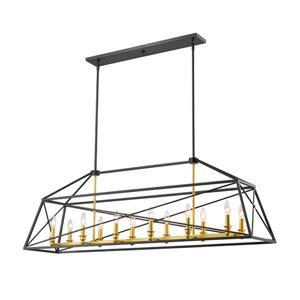 Z-Lite Tressle 12-Light Pendant Light - Gold