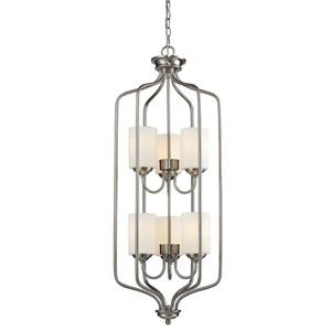 Z-Lite Cardinal 6-Light Pendant Light - Nickel