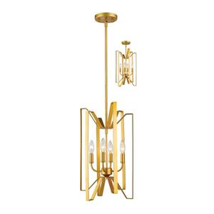 Z-Lite Marsala 4-Light Pendant Light - Gold