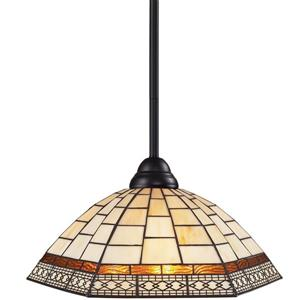 Z-Lite Riviera 1-Light Pendant Light - Multicoloured