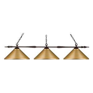 Z-Lite Aztec 3-Light Kitchen Island/Billiard Light - Bronze
