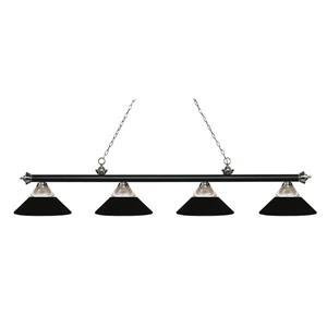 Z-Lite Riviera Traditional 4-Light Kitchen Island Light - Black