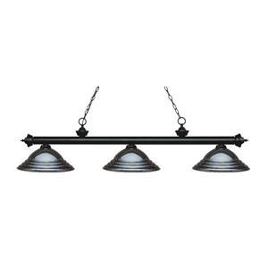 Z-Lite Riviera Traditional 3-Light Kitchen Island Light - Black
