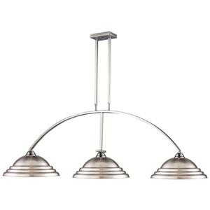 Z-Lite Martini Traditional 3-Light  Billiard Light - Nickel