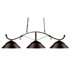 Z-Lite Howler Nautical 3-Light Billiard Light - Bronze