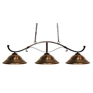 Z-Lite Howler Nautical 3-Light Billiard Light - Bronze