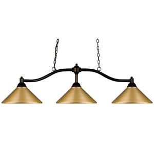 Z-Lite Chance Traditional 3-Light Billiard Light - Bronze